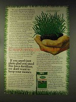 1976 Scotts Turf Builder Ad - Just Plain Glad