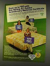 1976 Spring Air Mattress Ad - Golden Anniversary