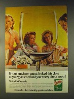 1976 Cascade Detergent Ad - Your Luncheon Guests