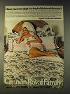 1976 Cannon Mikado Linens Ad - Slept in Bed of Flowers