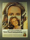1976 Clairol Quiet Touch Hair Color Ad - Frame Face