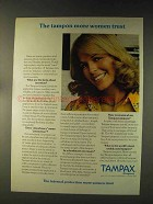 1976 Tampax Tampons Ad - More Women Trust
