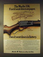 1976 Marlin Model 336 Rifle Ad - Went Down On Paper