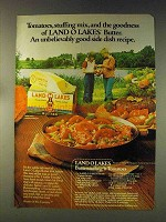 1976 Land O Lakes Butter Ad - Butterstuffing Tomatoes