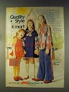 1976 Kmart Ad - Girls Red Pinafore-Look Dress