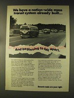 1976 The Asphalt Institute Ad - Mass Transit System