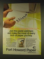 1976 Fort Howard Paper Ad - The Waste Watchers