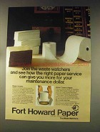 1976 Fort Howard Paper Ad - Join Waste Watchers