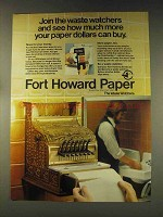 1976 Fort Howard Paper Ad - Join The Waste Watchers