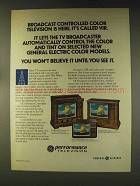 1976 G.E. TV Ad - Model WYM9358LP; WYC7660WD, WYM9352PC