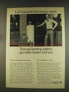 1976 AGA American Gas Association Ad - Energy Savers