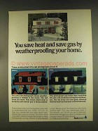 1976 AGA American Gas Association Ad - Save Heat