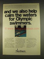 1976 Northern Natural Gas Ad - Olympic Swimmers