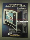 1976 Zenith The Panorama II Model SG2564X Television Ad
