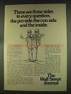 1976 The Wall Street Journal Ad - Sides to Question