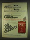 1976 Lark Cigarettes Ad - First Taste Rich but Rough