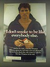 1976 Winston Cigarettes Ad - I don't Smoke to Be Like