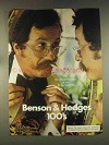 1976 Benson & Hedges 100's Cigarettes Ad