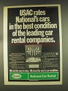1976 National Car Rental Ad - USAC Rates Best