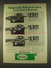 1976 National Car Rental Ad - Deflated Rates