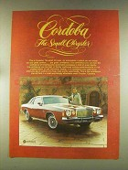 1976 Chrysler Cordoba Ad - The Small Chrysler