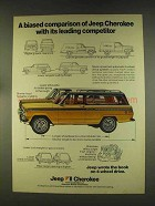 1976 Jeep Cherokee Ad - A Biased Comparison
