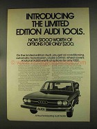 1976 Audi 100LS Car Ad - The Limited Edition