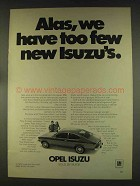 1976 Buick Opel Isuzu Ad - Alas, We Have Too Few