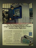 1976 American Express Ad - $500 in Travelers Cheques