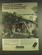 1976 Allstate Insurance Ad - Can Rebuild Your House