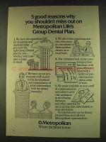1976 Metropolitan Life Insurance Ad - 5 Good Reasons