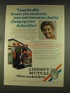 1976 Liberty Mutual Ad - Changing your Deductibles