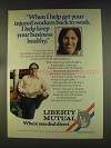 1976 Liberty Mutual Ad - InJured Workers Back to Work
