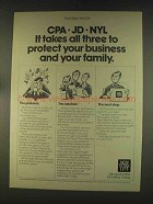 1976 New York Life Insurance Ad - CPA JD NYL