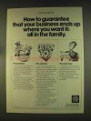 1976 New York Life Insurance Ad - How to Guarantee