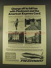 1976 Piedmont Airlines Ad - The American Express Card