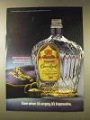 1976 Seagram's Crown Royal Whisky Ad - Empty Impressive