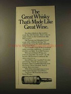 1976 Old Forester Whisky Ad - Made Like Great Wine