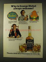 1976 George Dickel Whisky Ad - Always Welcome