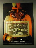 1976 Grand Marnier Liqueur Ad - Extra Bottle in Reserve