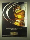 1976 Johnnie Walker Black Label Scotch Ad - Platter