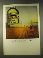 1976 Cutty Sark Scotch Ad - And Now It's Time