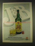 1976 J&B Scotch Ad - Rare Taste Ask For It By Name