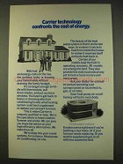 1976 Carrier Heat Pump Air conditioner Ad - The Cost