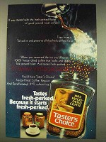 1976 Taster's Choice Coffee Ad