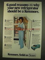 1976 Kenmore Model No. 66961 Refrigerator Ad - Reasons
