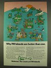 1976 Bahamas Tourism Ad - 700 Islands Better than One