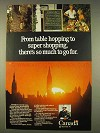 1976 Canada Tourism Ad - Table Hopping Super Shopping