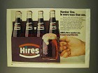 1976 Hires Root Beer Ad - Number One in More Ways