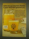 1976 Florida Orange Juice Ad - A Great Value